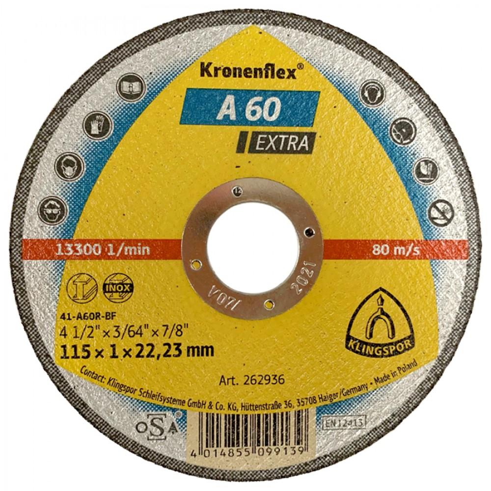 """Klingspor Kronenflex 4 1/2"""" Stainless Steel Cutting Disc"""