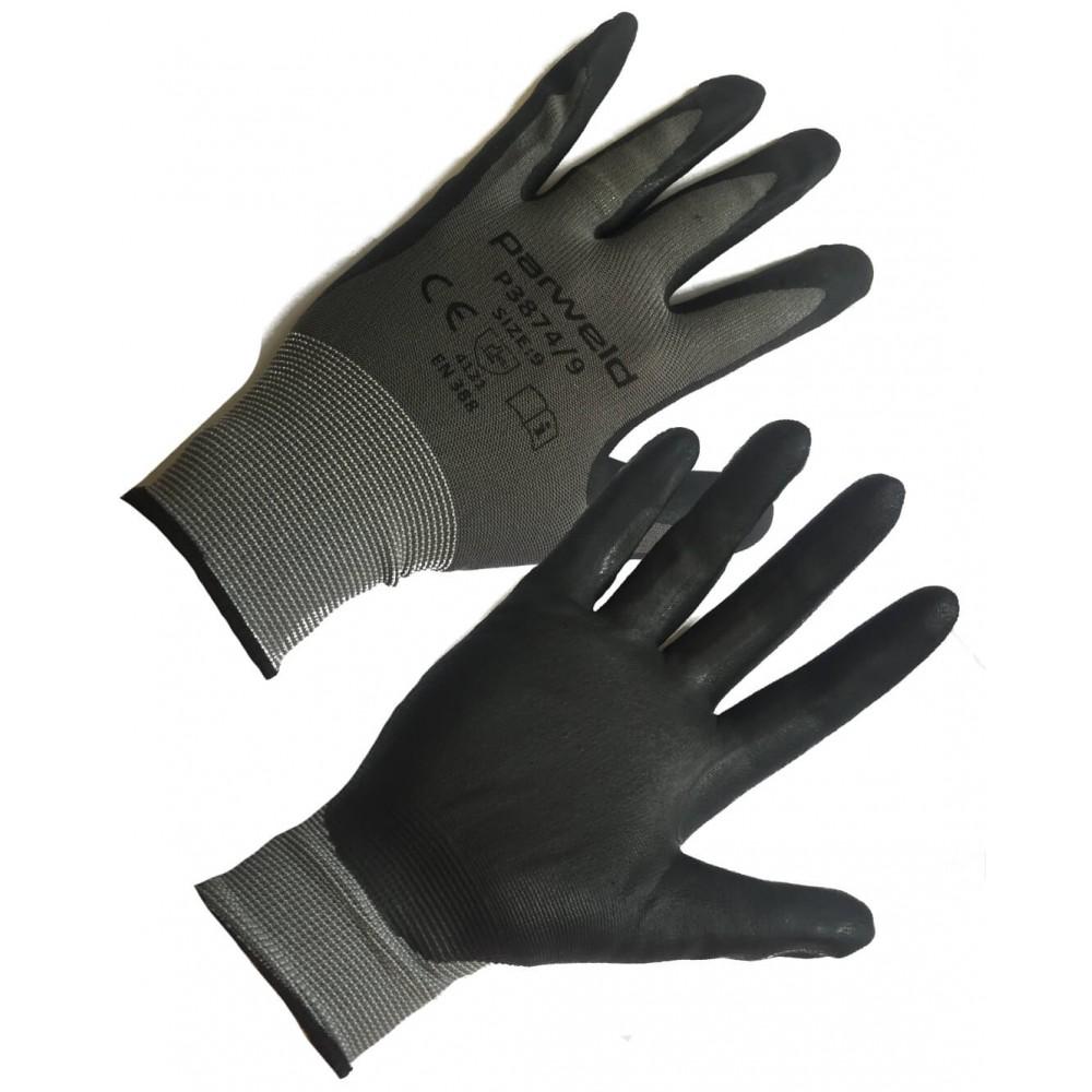 Foam Nitrile Gripper Glove Palm Coated