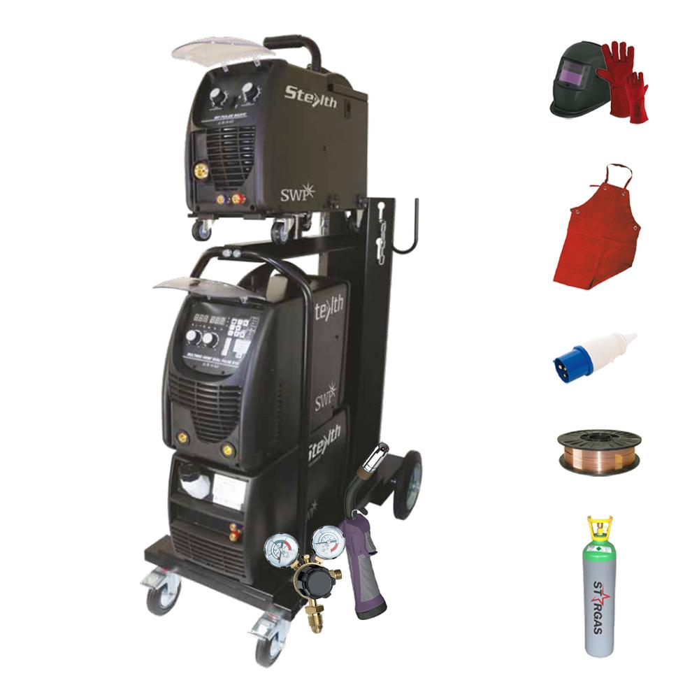 DIGI-MIG 400BF DUAL PULSE Multiprocess with Torch & Regulator