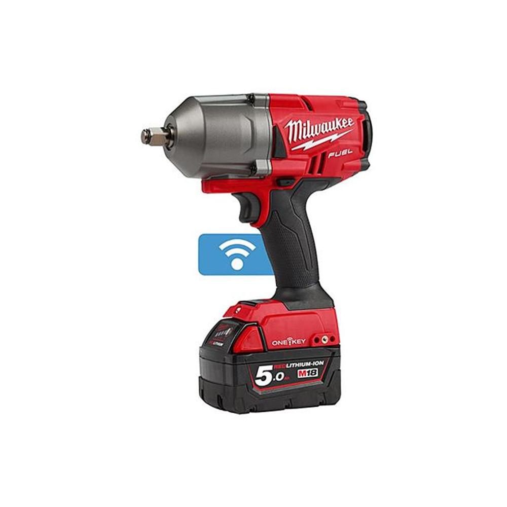 """M18ONEFHIWF34-502X 18 Volt High-Torque 3/4"""" Impact Wrench, 2 x 5.0Ah Batteries"""
