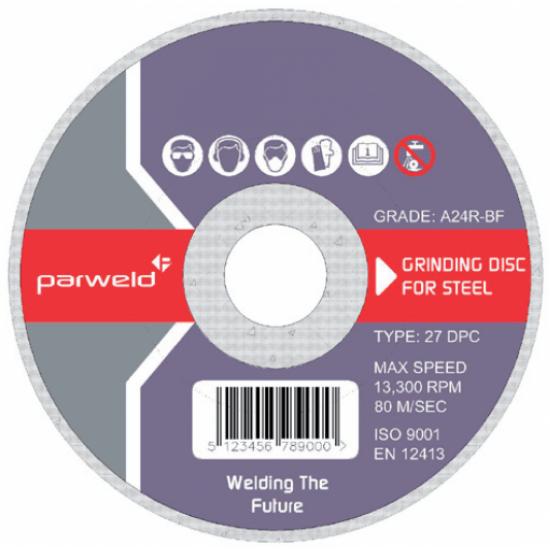 "Parweld 4 1/2"" Grinding Disc Steel"
